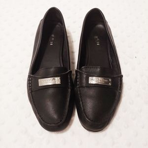 Coah Penny Nola Loafers Flats Black Leather